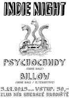 Indie Night:  Psychocandy / Billow